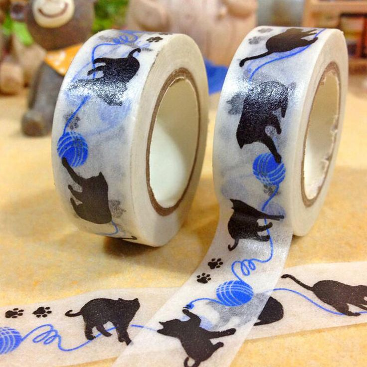 15mm*10 m Kawaii Black cat washi tape Japanese paper Decorative tape DIY Scrapbooking Sticker escolar shcool supplies zakka-in Office Adhesive Tape from Office & School Supplies on Aliexpress.com | Alibaba Group