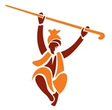 As you can see, this character is using a stick called a daang. This is used in many bhangra dances to make simple moves have some pasas to it.