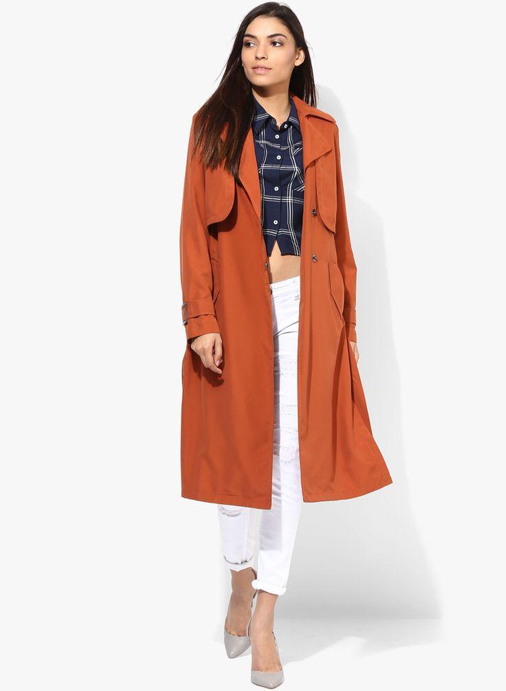 Buy Dorothy Perkins Rust Solid Winter Jacket Rs 5390