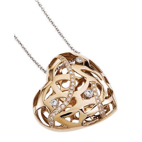Diamond Jewellers :: 18KT ROSE GOLD SAFARI SMALL HEART PENDANT