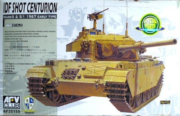 Centurion Shot Mk.5 1960 / Shot Mk.5/1 1967, Israel Army, Six Day War. AFV Club, 1/35, rebox 2007 (ex AFV Club 2006 No.AF35122, updated/new parts), No.AF35159. Price: 35,70 EUR (marketplace).
