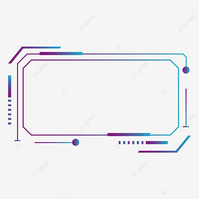 Blue Gradient Technology Border Decoration Border Clipart Blue Border Border Png And Vector With Transparent Background For Free Download Technology Background Background Images For Editing Blue Neon Lights