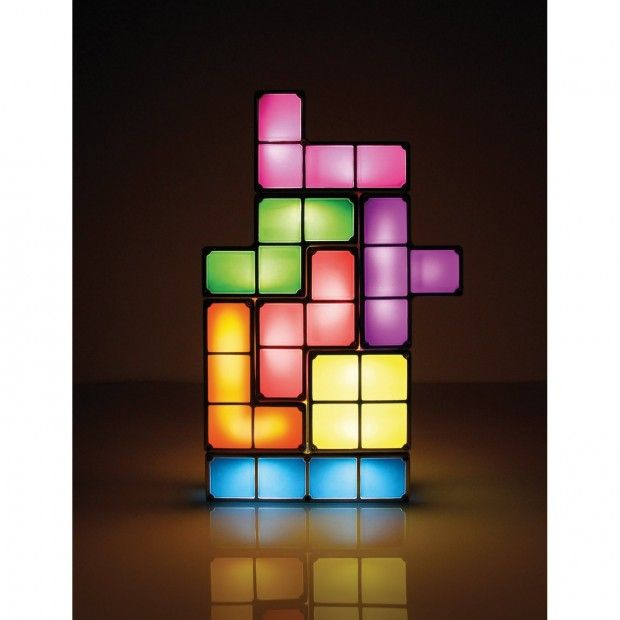Tetris Constructible Desk Lamp Light Light Turns On When The Pieces Are  Stacked Together, And Off When Dissembled