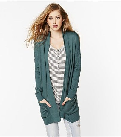 Drape yourself in this serpentine slouchy and ultra soft cardigan.