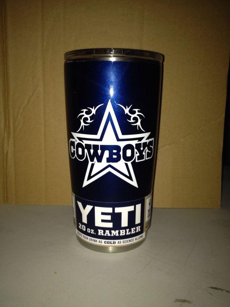 Yeti 20 Oz Dallas Cowboys Custom Painted W Base Coat And