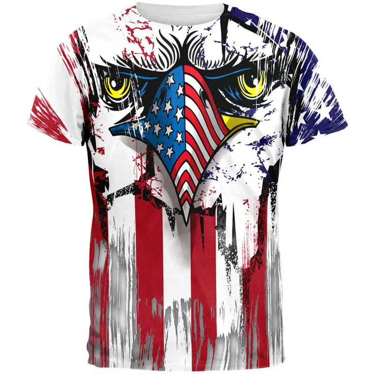 Patriot Eagle All Over Adult T-Shirt