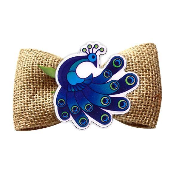 Broșă mărțișor tip pin Păun Nobil