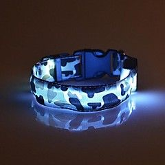 Gatos / Cães Colarinho Luzes LED / Segurança / camuflagem Vermelho / Branco…