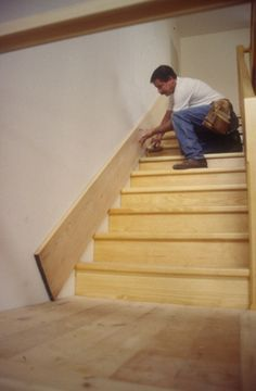 How to scribe skirting for stairs