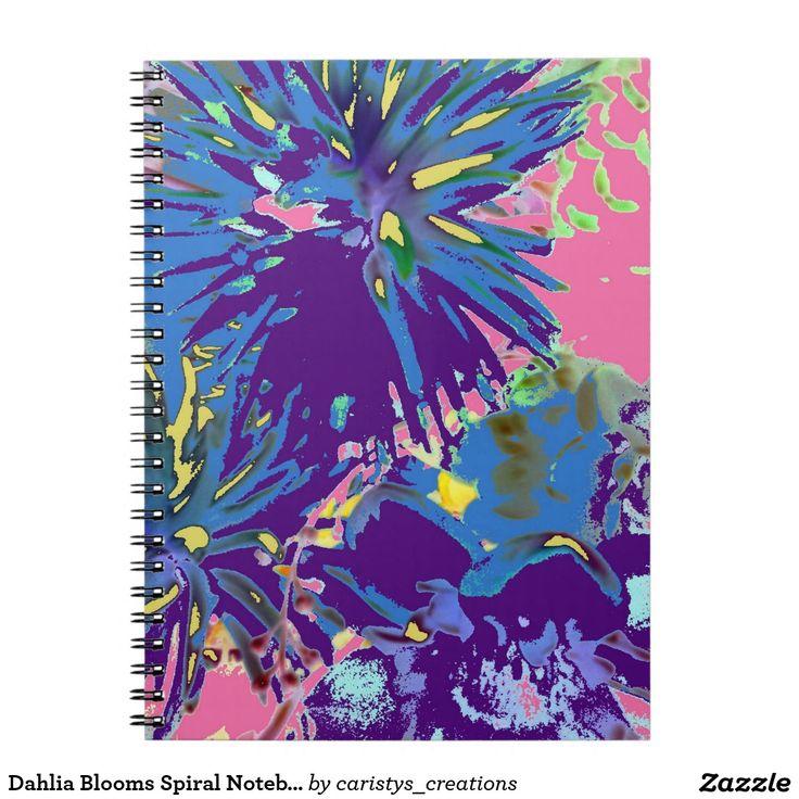 Dahlia Blooms Spiral Notebook/Journal Spiral Note Book