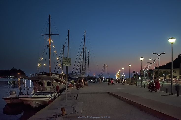A night walk.. like always with the cousins..... - Lemnos Island