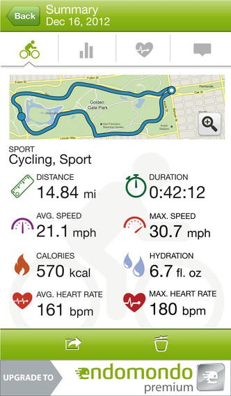 Endomondo er gratis og kan måle din rute op, puls, km mm. Du kan vælge om du går, cykler etc. Genial app til træning.