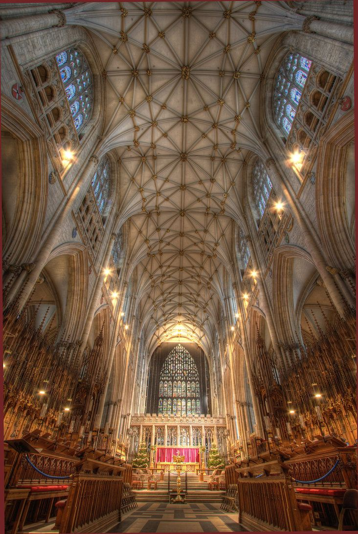 "York Minster. My aunt Max, who was a confirmed atheist commented when we visited ""If there is a God, he lives here."""