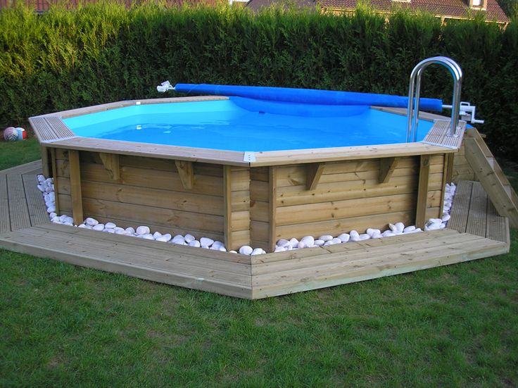 Piscine hors sol en bois piscine bois terrasse for Kit piscine bois semi enterree