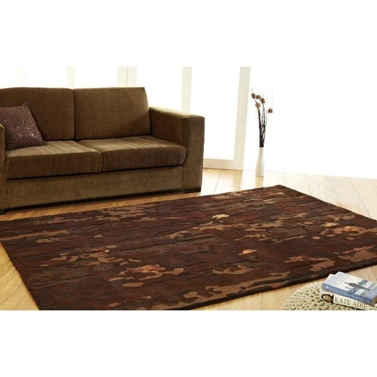 Earth Abstract Design Unique Rug by Ultimate Rug Incorporate this Earth Abstract Design Unique Rug by Ultimate Rug into your home to attain a natural feel. #uniquerugs #brownrugs #woolrugs #luxuriousrugs #handmaderugs #abstractrugs #modernrugs