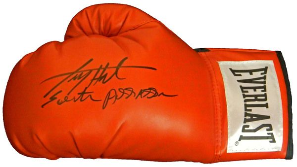 Larry Holmes Signed Everlast Red Boxing Glove w/Easton Assassin