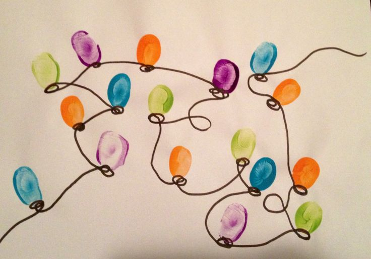 Thumbprint lights- perfect for a two year old!