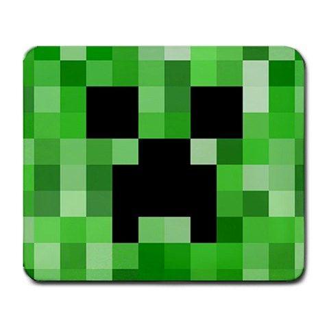 Minecraft Creeper 3d Games Pixel Art Large Mousepad Mat