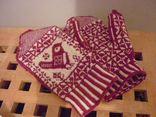Chickadee Mittens designed by Susan Anderson-Freed