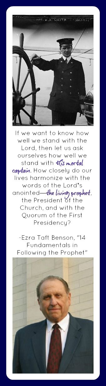 ETB, 14 Fundamentals to Following the Prophet.  If we want to know how we stand with the lord