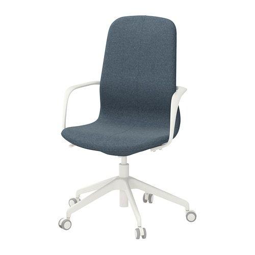 Langfjall Swivel Chair Gunnared Blue White Dorm Room Pinterest
