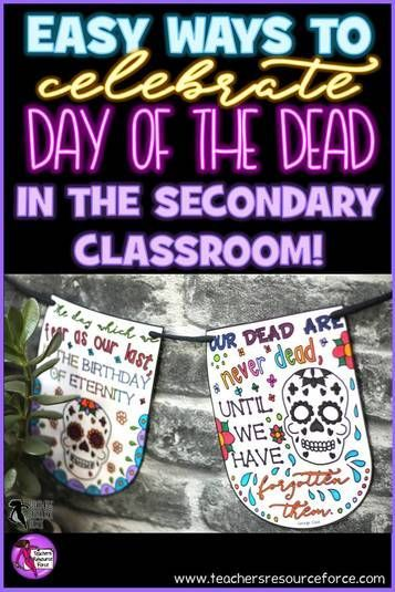 Easy ways to celebrate the day of the dead in secondary school @resourceforce