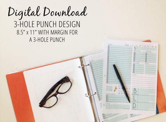Digital Download - 3-hole Punch Daily Page