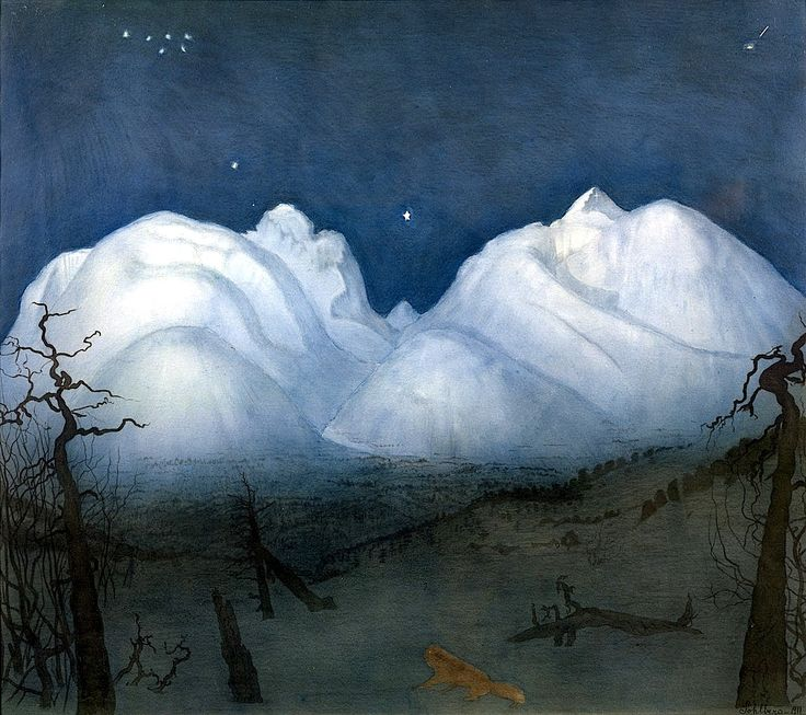 Winter night in the Mountains - Harald Oscar Sohlberg