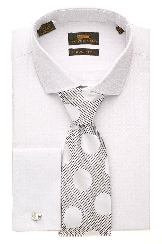 Steven Land Dress Modern Shirts  DM1260   Silver  $69 #StevenLand #Style