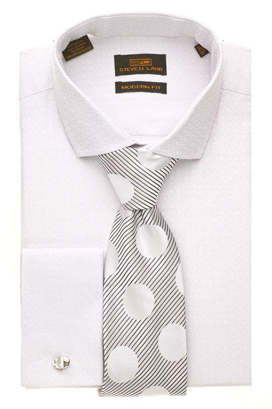 Steven Land Dress Modern Shirts DM1260 | Silver $69