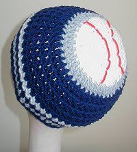 sports themed hats - baseball, basketball, soccer, football. make in favorite team colors ♥