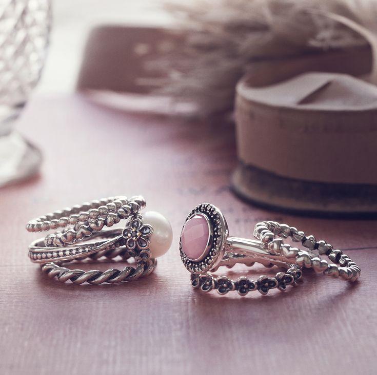 Stackable Rings. Pandora