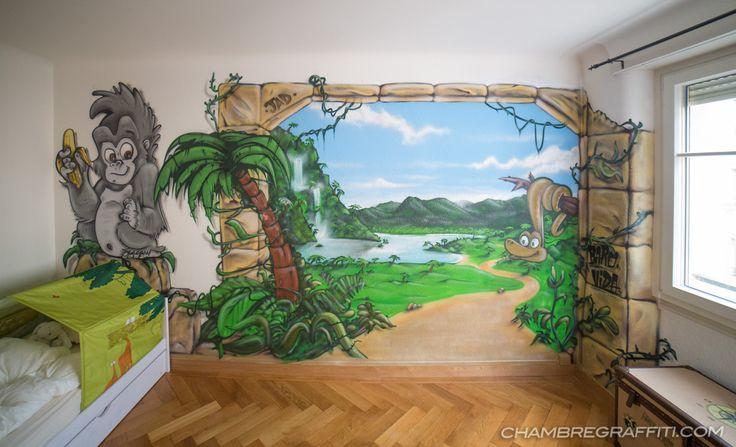 Chambre graffiti deco 1317 800 baby 39 s room - Deco chambre jungle ...