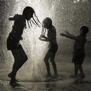 Childhood Memories - playing in the rain.