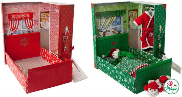 """Help your Elf Magic Elf feel welcome and comfortable in your home by making them a """"Bed in a Box""""! Elf ideas from the Elf Magic Elves"""