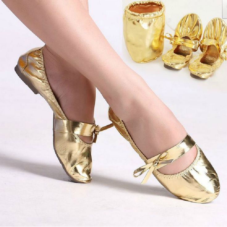 Free Shipping yoga/ ballet/ dance/ belly/ practice soft shoes cow muscle outsole gold silver x05 http://zzkko.com/n296961 $36.32 BRL