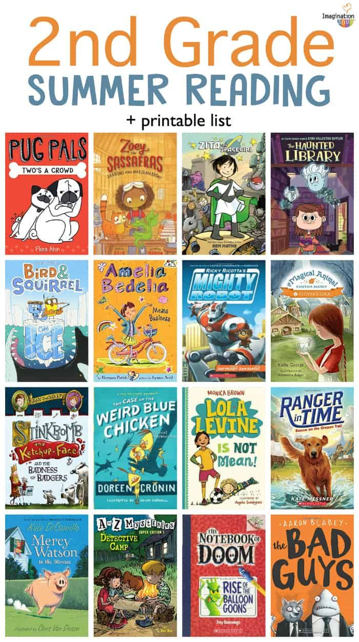 Second Grade Summer Reading List with Printable Book List ...