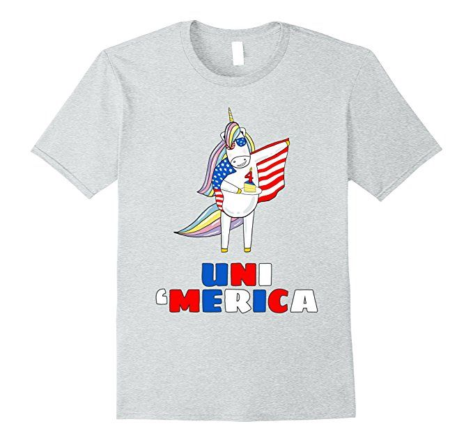 Amazon.com: UniMerica 4th Of July Unicorn Ma Memorial Day Funny T-shirt: Clothing