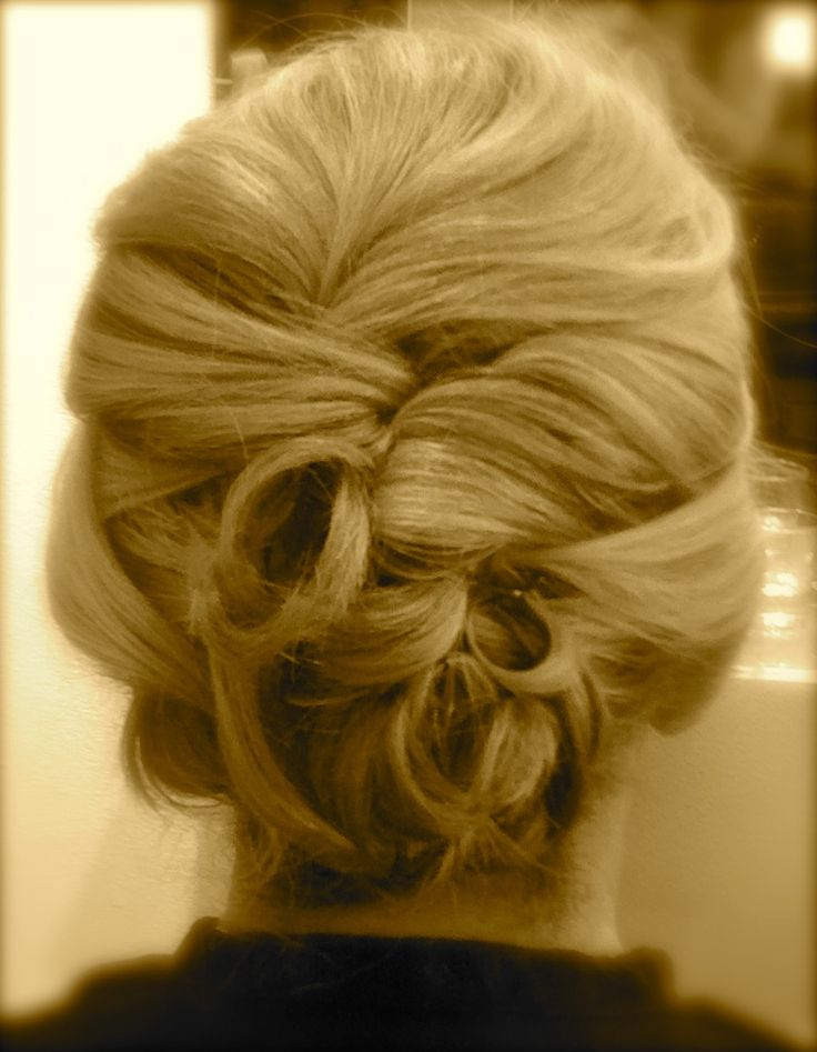 Elegant enough for a formal wedding, yet very wearable for a destination wedding. #MotheroftheBride's hair -Back View