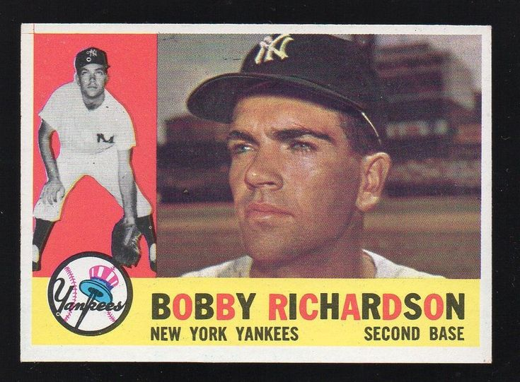 1960 TOPPS #405 BOBBY RICHARDSON N.Y. Yankees sharp/fresh/centered NM to NM/MT