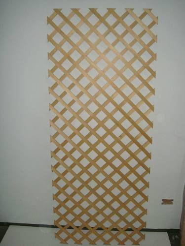 Panel Enrejado Trilaux Trillage En Madera Eucaliptus 6x6 - $ 390,00