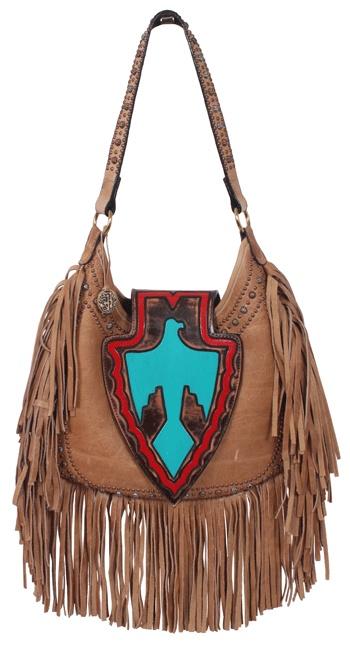 Love! Turquoise eagle and fringe purse