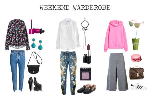 """Weekend warderobe"" by stinasolheim on Polyvore featuring H&M, Mulberry, Bourjois, adidas Originals, Chloé, Ippolita, NARS Cosmetics and Roberto Cavalli"