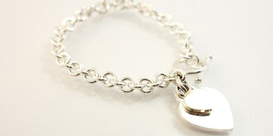 Bella Donna Sterling Silver Heart Bracelet.  Find it at www.giftedmemoriesjewellery.com.au