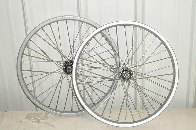 "BMX 20"" WHEELSET BICYCLE WHEELS STEEL RIMS PART JJ1 #UnbrandedGeneric"
