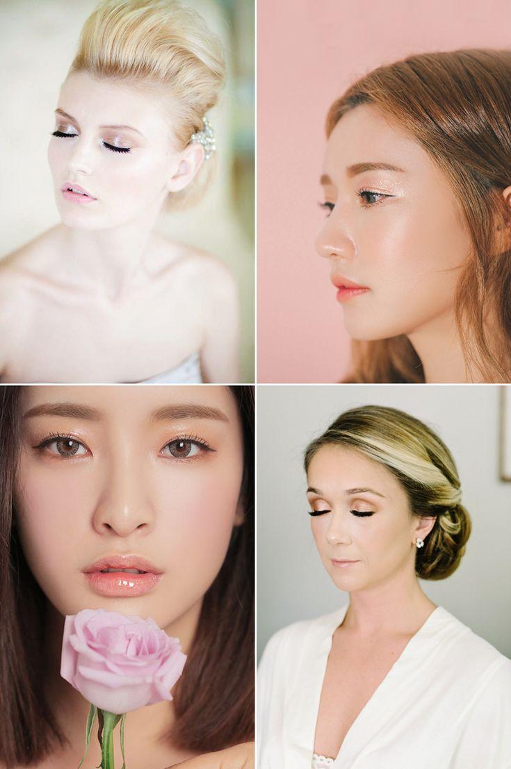 2017彩妝風潮來襲! 五大時尚新娘必看的彩妝潮流! (重點:水光眼影,左一圖,自然得黎有光澤)