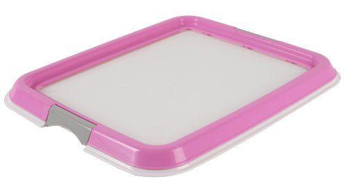 IRIS Training Pad Holder, Small, Pink IRIS USA, Inc. http://www.amazon.com/dp/B008LTIP72/ref=cm_sw_r_pi_dp_v37Pvb03G07W1