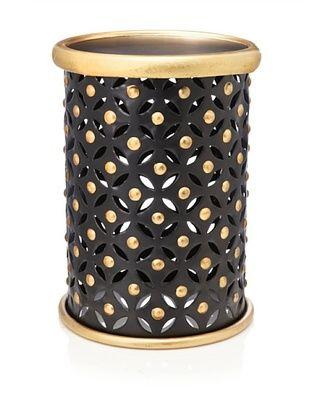 Metal Stool, Black/Gold
