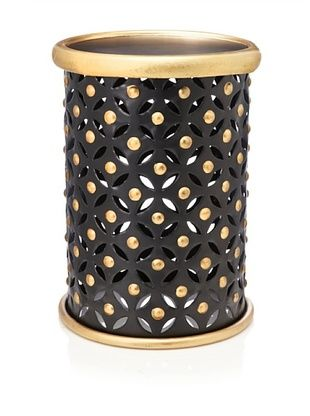 Metal Stool, Black/Gold