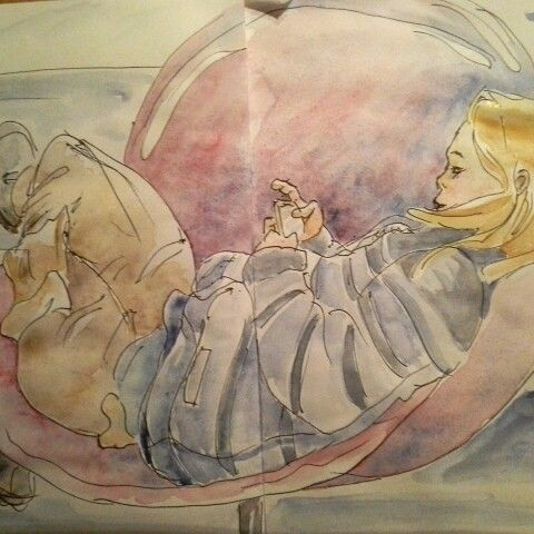 Playing - watercolor